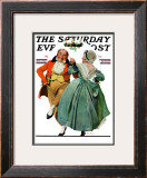 """Christmas Dance"" or ""Merrie Christmas"" Saturday Evening Post Cover, December 8,1928 Framed Giclee Print by Norman Rockwell"
