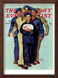 """Willie Gillis' Package from Home"" Saturday Evening Post Cover, October 4,1941 Framed Giclee Print by Norman Rockwell"