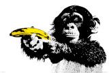 Singe avec pistolet-banane, Just Shoot Me Posters