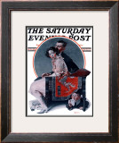 """God Bless You"" or ""Sneezing Boy"" Saturday Evening Post Cover, October 1,1921 Framed Giclee Print by Norman Rockwell"