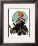 """Springtime, 1927"", April 16,1927 Framed Giclee Print by Norman Rockwell"