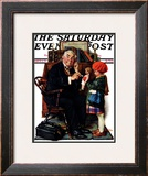 """Doctor and the Doll"" Saturday Evening Post Cover, March 9,1929 Framed Giclee Print by Norman Rockwell"