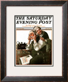 """Wonders of Radio"" or ""Listen, Ma!"" Saturday Evening Post Cover, May 20,1922 Framed Giclee Print by Norman Rockwell"