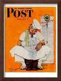 """Thanksgiving Day Blues"" Saturday Evening Post Cover, November 28,1942 Framed Giclee Print by Norman Rockwell"