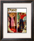 """Before the Date"" Saturday Evening Post Cover, September 24,1949 Framed Giclee Print by Norman Rockwell"