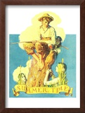 """""""Summertime, 1933"""", August 5,1933 Framed Giclee Print by Norman Rockwell"""