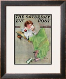 """Diary"" Saturday Evening Post Cover, June 17,1933 Framed Giclee Print by Norman Rockwell"