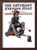 """Hobo"" Saturday Evening Post Cover, October 18,1924 Framed Giclee Print by Norman Rockwell"