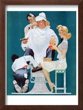 """Full Treatment"", May 18,1940 Framed Giclee Print by Norman Rockwell"