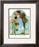"""Milkmaid"", July 25,1931 Framed Giclee Print by Norman Rockwell"