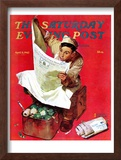 """Willie Gillis on K.P"" Saturday Evening Post Cover, April 11,1942 Framed Giclee Print by Norman Rockwell"