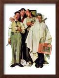 """""""Barbershop Quartet"""", September 26,1936 Framed Giclee Print by Norman Rockwell"""