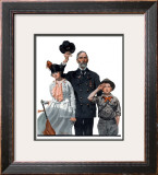 """Salute to Colors"", May 12,1917 Framed Giclee Print by Norman Rockwell"