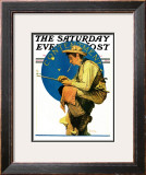 """Contentment"" Saturday Evening Post Cover, August 28,1926 Framed Giclee Print by Norman Rockwell"