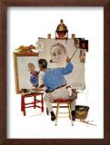 """Triple Self-Portrait"", February 13,1960 Framed Giclee Print by Norman Rockwell"