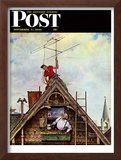 """New T.V. Set"" Saturday Evening Post Cover, November 5,1949 Framed Giclee Print by Norman Rockwell"