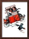"""Look Out Below"" or ""Downhill Daring"", January 9,1926 Framed Giclee Print by Norman Rockwell"
