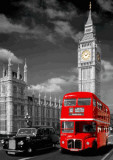 BIG BEN , BUS & TAXI, 3-D Poster Prints