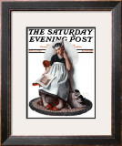 """Daydreams"" ""Cinderella"" Saturday Evening Post Cover, November 4,1922 Framed Giclee Print by Norman Rockwell"