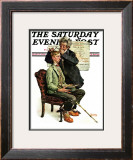 """Phrenologist"" Saturday Evening Post Cover, March 27,1926 Framed Giclee Print by Norman Rockwell"