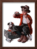 """""""Sick Puppy"""", March 10,1923 Framed Giclee Print by Norman Rockwell"""