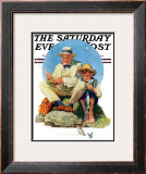 """Catching the Big One"" Saturday Evening Post Cover, August 3,1929 Framed Giclee Print by Norman Rockwell"