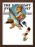 """Summer Vacation, 1934"" Saturday Evening Post Cover, June 30,1934 Framed Giclee Print by Norman Rockwell"