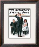 """Recitation"" Saturday Evening Post Cover, June 14,1919 Framed Giclee Print by Norman Rockwell"