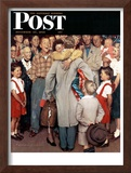 """Christmas Homecoming"" Saturday Evening Post Cover, December 25,1948 Framed Giclee Print by Norman Rockwell"