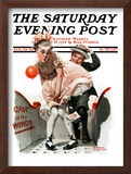 """""""Cave of the Winds"""" Saturday Evening Post Cover, August 28,1920 Framed Giclee Print by Norman Rockwell"""