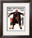 """""""Puppy in the Pocket"""" or """"The Gift"""" Saturday Evening Post Cover, January 25,1936 Framed Giclee Print by Norman Rockwell"""