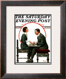 """Ouija Board"" Saturday Evening Post Cover, May 1,1920 Framed Giclee Print by Norman Rockwell"