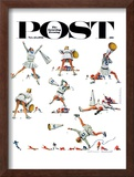 """Cheerleader"" Saturday Evening Post Cover, November 25,1961 Framed Giclee Print by Norman Rockwell"