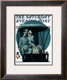"""Moonlight Buggy Ride"" Saturday Evening Post Cover, September 19,1925 Framed Giclee Print by Norman Rockwell"