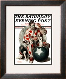 """Between the Acts"" Saturday Evening Post Cover, May 26,1923 Framed Giclee Print by Norman Rockwell"
