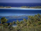 A Lagoon in Bora Bora Photographic Print by Jodi Cobb
