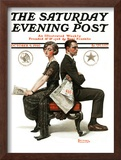 """Election Debate"" Saturday Evening Post Cover, October 9,1920 Framed Giclee Print by Norman Rockwell"