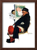 """See Him at Drysdales"" (Santa on train), December 28,1940 Framed Giclee Print by Norman Rockwell"