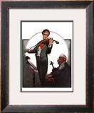 """Violin Virtuoso"", April 28,1923 Framed Giclee Print by Norman Rockwell"
