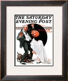 """Halloween"" Saturday Evening Post Cover, October 23,1920 Framed Giclee Print by Norman Rockwell"