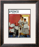 """Just Married"" (hotel maids and confetti) Saturday Evening Post Cover, June 29,1957 Framed Giclee Print by Norman Rockwell"