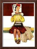 """Cover Girl"", March 1,1941 Framed Giclee Print by Norman Rockwell"