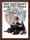 """Age of Romance"" Saturday Evening Post Cover, November 10,1923 Framed Giclee Print by Norman Rockwell"