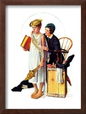 """Spirit of Education"", April 21,1934 Framed Giclee Print by Norman Rockwell"