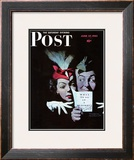 """Willie Gillis in a Blackout"" Saturday Evening Post Cover, June 27,1942 Framed Giclee Print by Norman Rockwell"