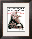 """Good Deeds"" Saturday Evening Post Cover, December 6,1924 Framed Giclee Print by Norman Rockwell"