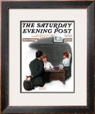 """Knowledge is Power"" Saturday Evening Post Cover, October 27,1917 Framed Giclee Print by Norman Rockwell"