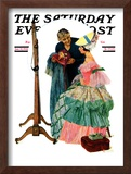 """""""Dressmaker"""" Saturday Evening Post Cover, January 31,1931 Framed Giclee Print by Norman Rockwell"""