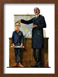 """Schoolmaster"" or ""First in his Class"", June 26,1926 Framed Giclee Print by Norman Rockwell"