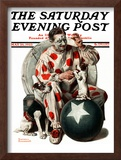 """""""Between the Acts"""" Saturday Evening Post Cover, May 26,1923 Framed Giclee Print by Norman Rockwell"""